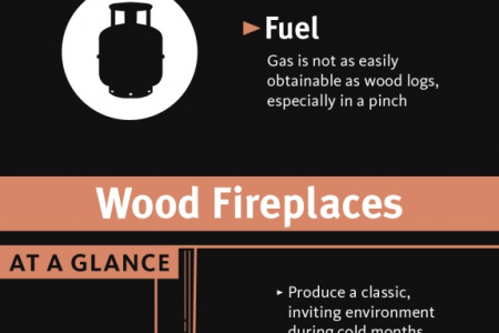 Choosing Between Gas and Wood Fireplaces Infographic