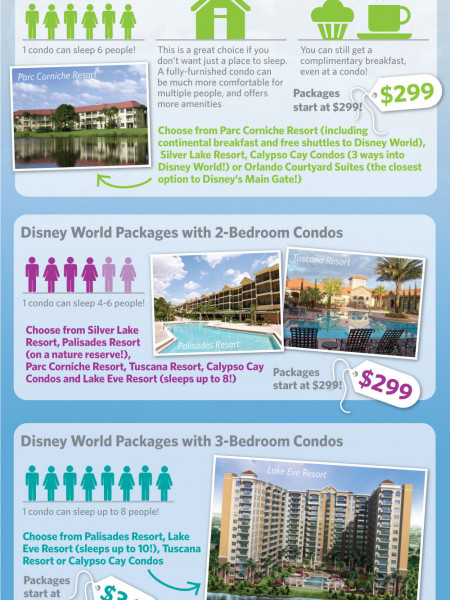 Choosing the Correct Disney World Vacation Package for your Family Infographic