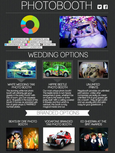 Choosing the right wedding photo booth Infographic