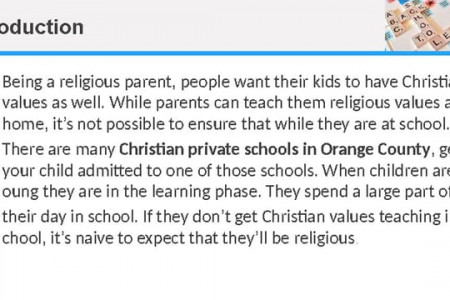Christian private school in OC Infographic