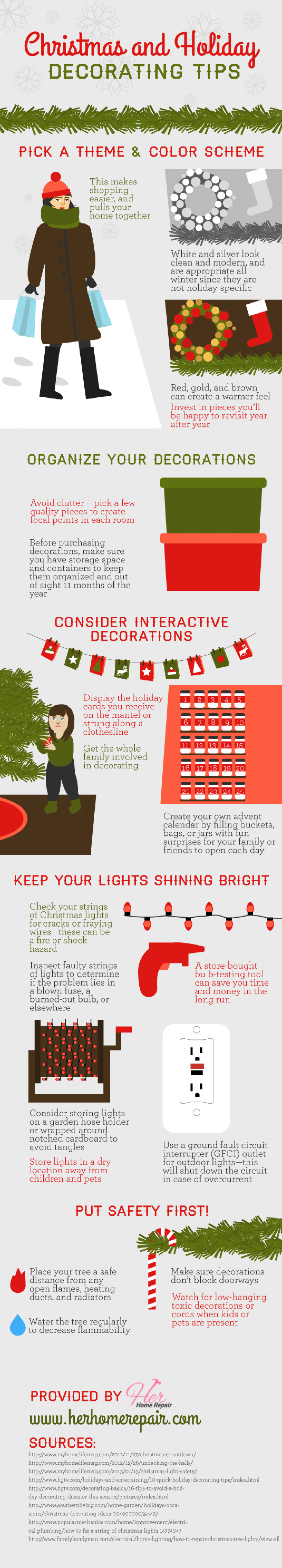 Christmas and Holiday Decorating Tips Infographic