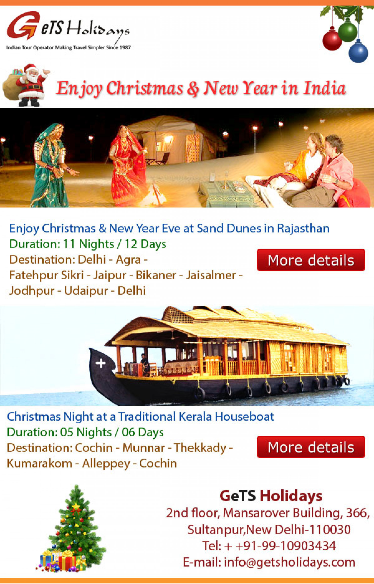 Christmas and New Year Celebration in India Infographic