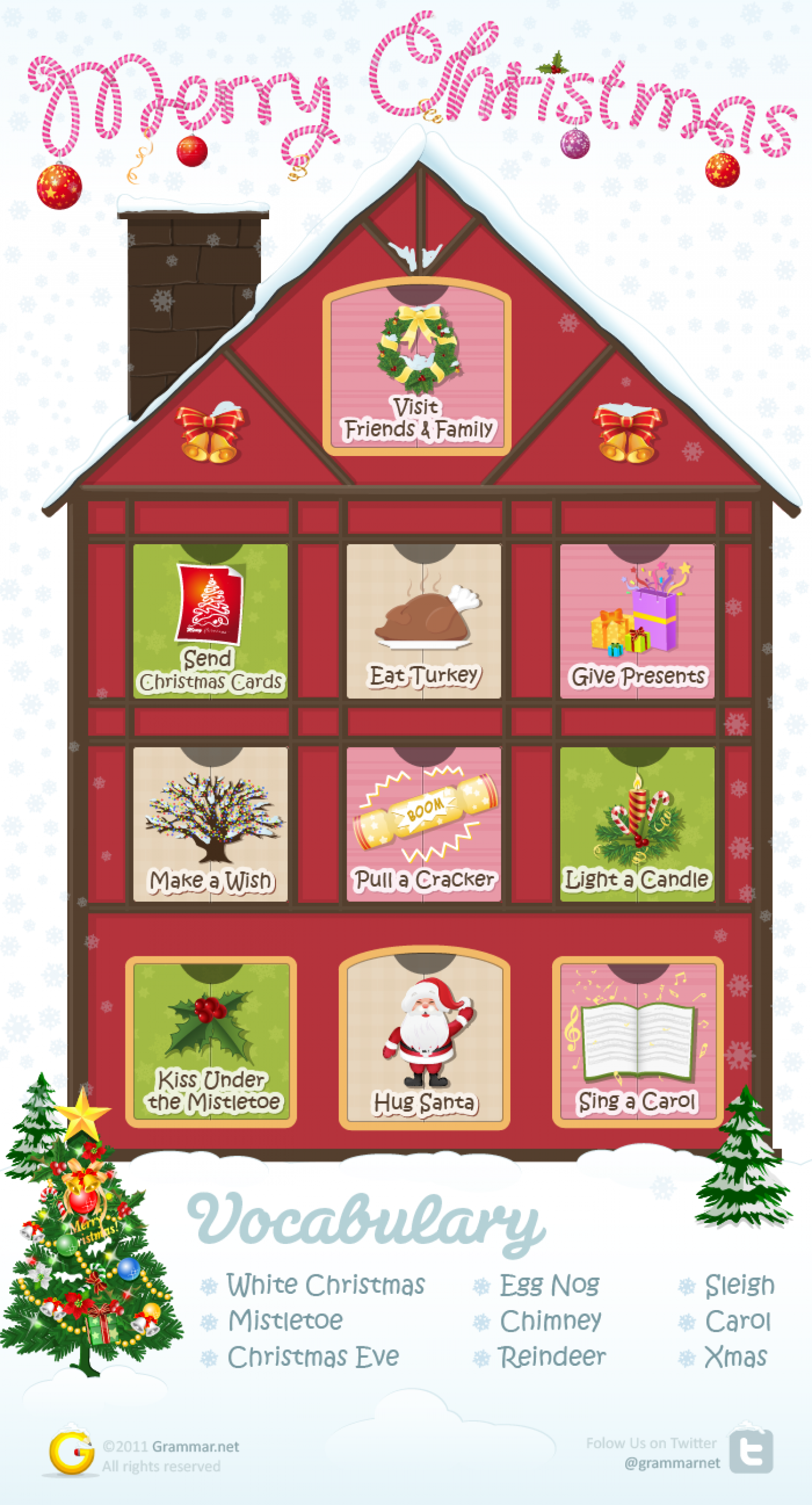 Christmas comes, but once a year Infographic
