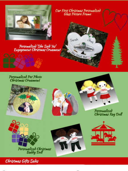 Christmas Gift Ideas Infographic