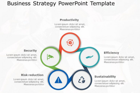 Circle 5 Steps Strategy Infographic