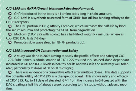 CJC-1295 Infographic: details about a very popular hgh peptide Infographic