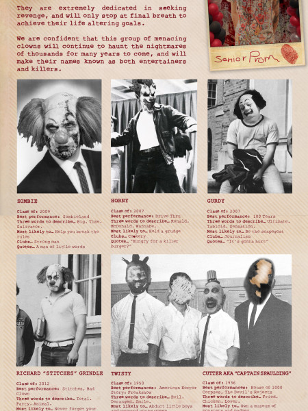 Class of the Killer Clowns Infographic