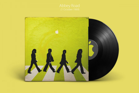Classic Album Covers Recreated by Apple Infographic