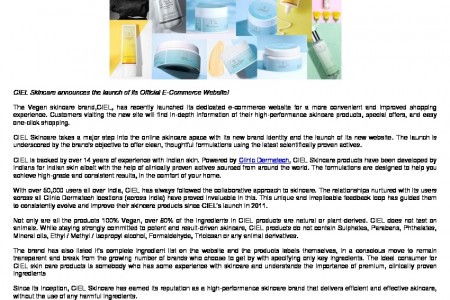 Clinic Dermatech Introduces the New CIEL Skincare! Infographic