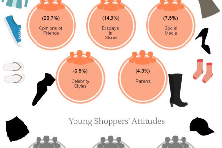 Clothing Style & Brand Decision Influencers for Youths Infographic