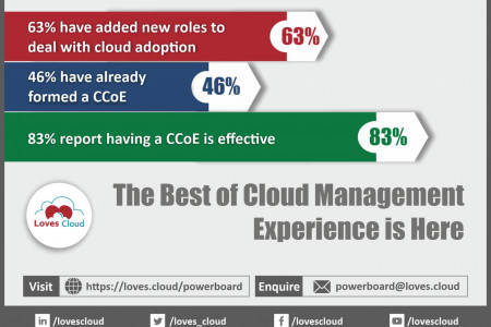 Cloud adoption and management - Loves cloud Infographic