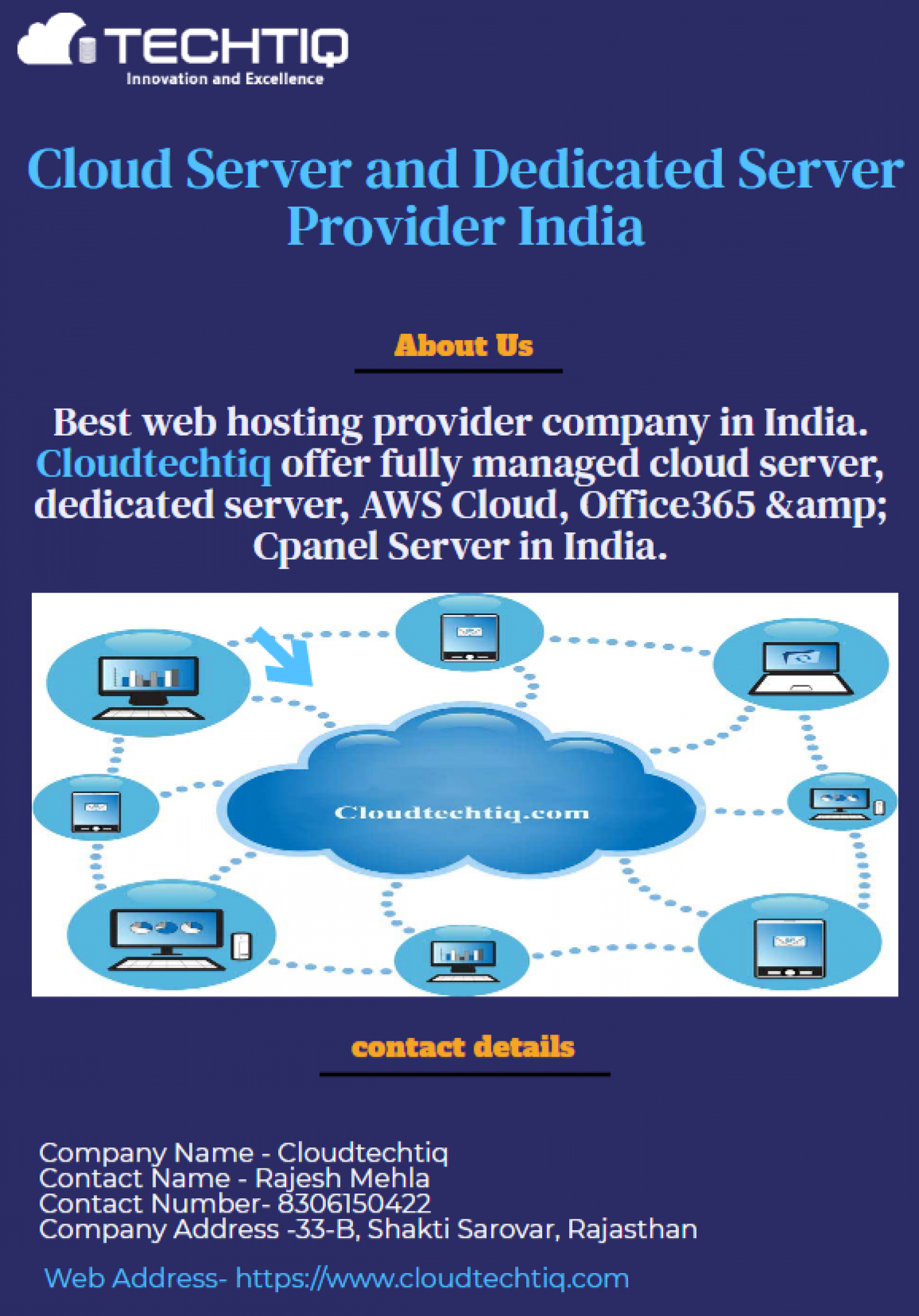 Cloud Server and Dedicated Server Provider India Infographic