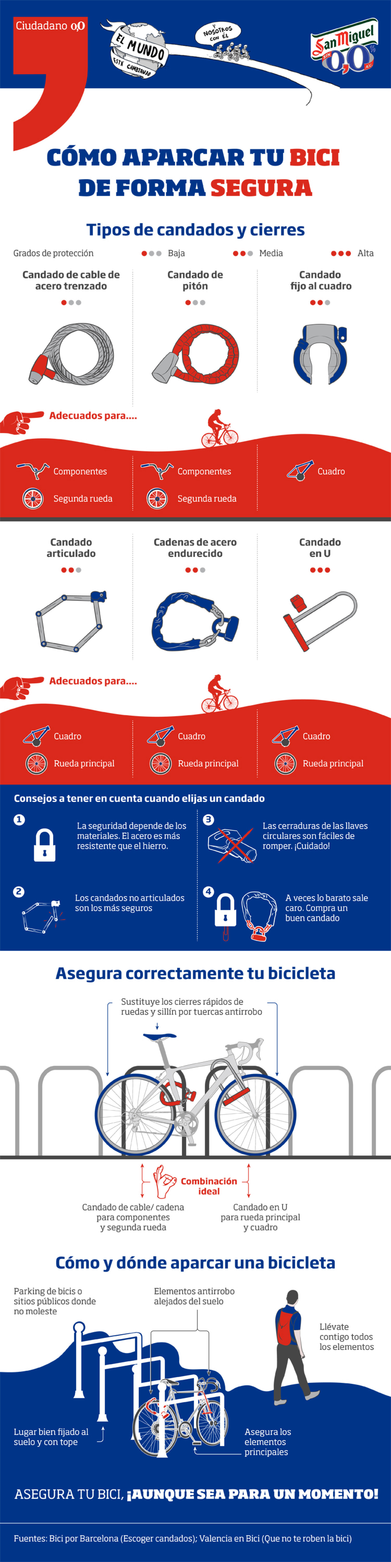 How to park your bicycle in a secure way Infographic