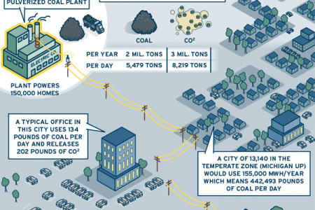 Coal Plant Production Infographic