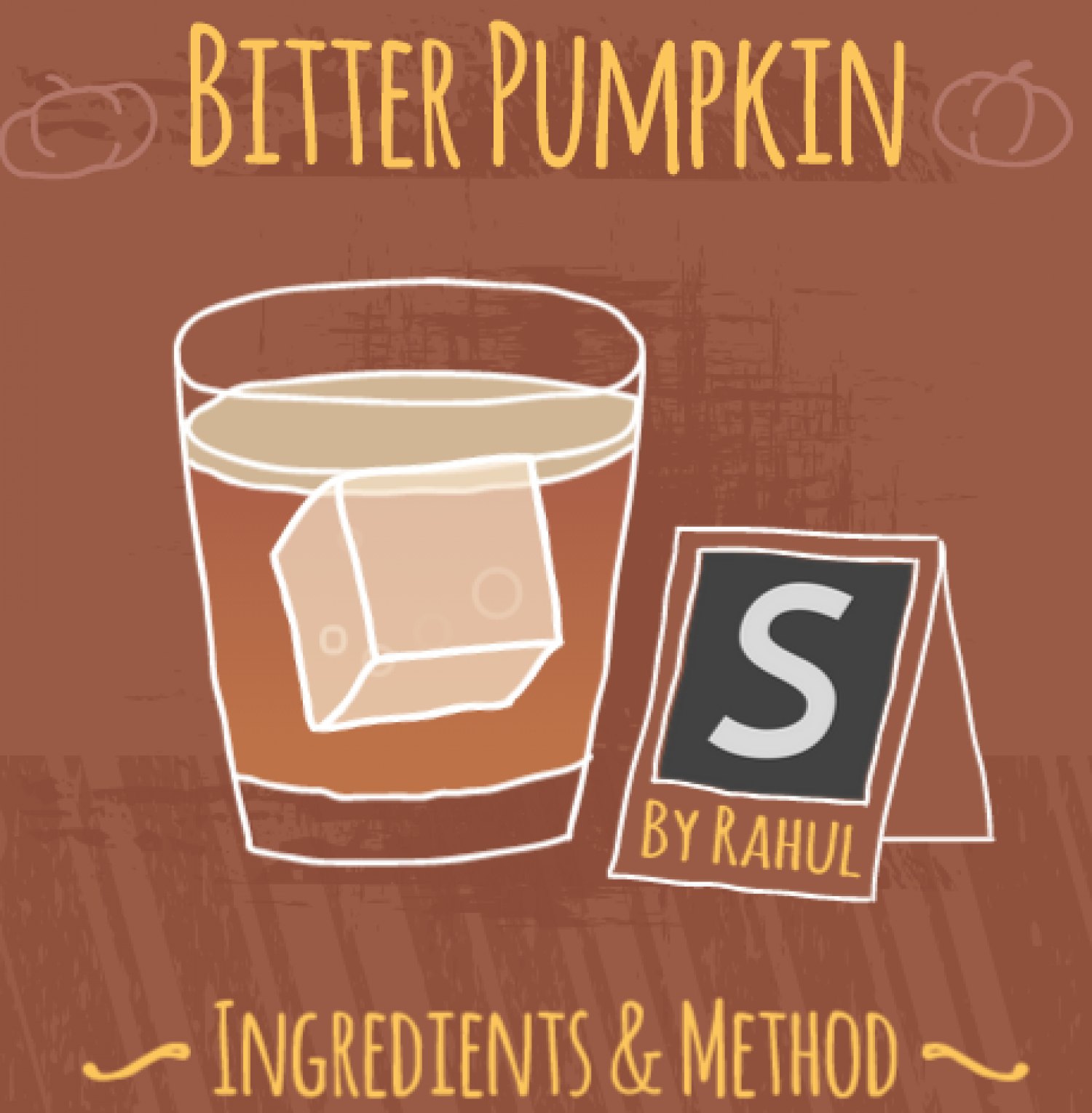 Cocktail Favourites: The Bitter Pumpkin Infographic