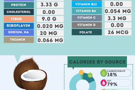 Coconut Meat nutrition facts Infographic
