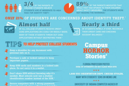 College Students Are an Easy Target for Identity Theft Infographic