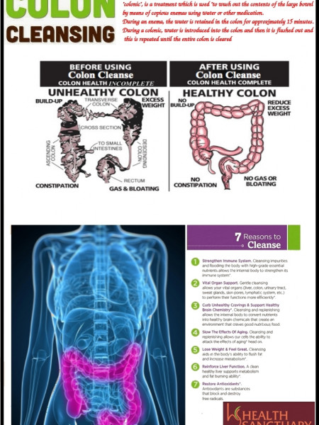 Colon Hydrotherapy - Way to Cleanse up the Colons Infographic