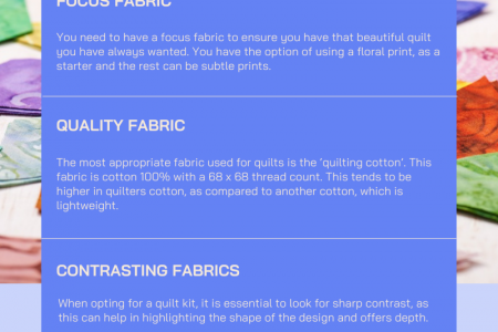 Color Combinations And Fabric Of The Quilt Kit Infographic