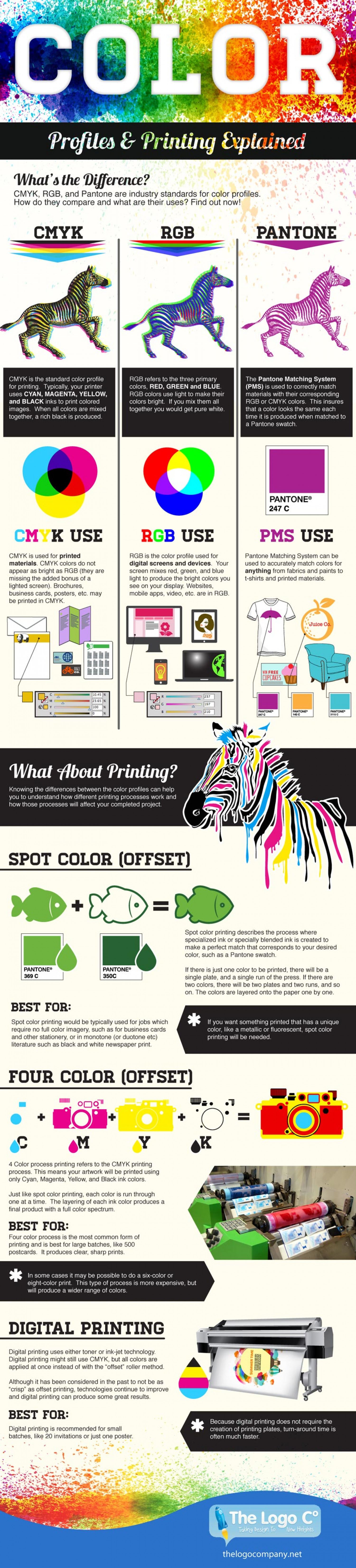 Color Profiles & Printing Explained Infographic