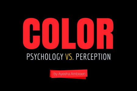 Color: Psychology vs. Perception Infographic
