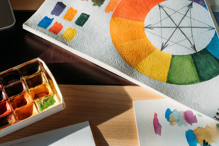 COLOR THEORY IN BRAND DESIGN Infographic