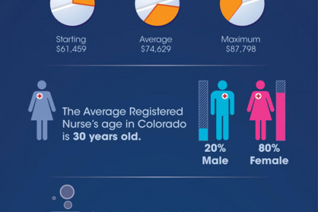 Colorado Salary Statistics in Nursing Career Infographic
