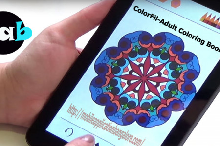 ColorFil-Adult Coloring Book Android App Infographic