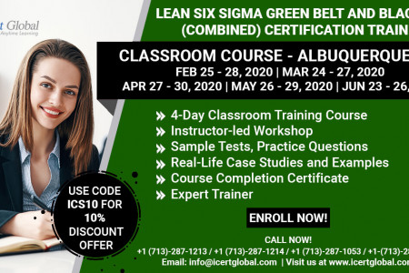Combo LSSGB and LSSBB Certification Training in Albuquerque, NM Infographic