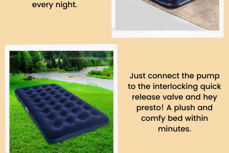 Comfortable Inflatable Mattress Only At Camping Swag Online Infographic