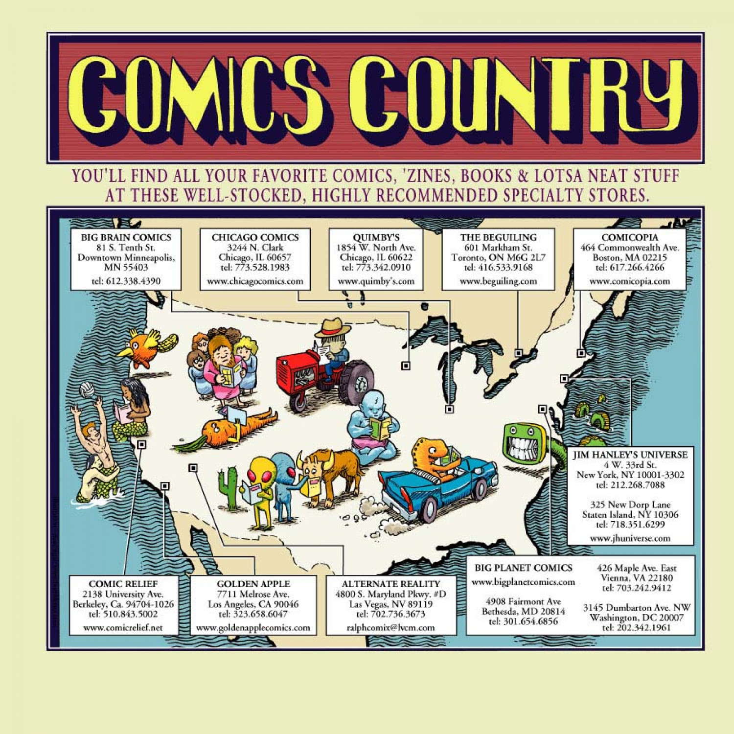 Comics Country Infographic