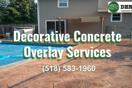 Commercial & Residential Decorative Concrete Overlay Services Infographic
