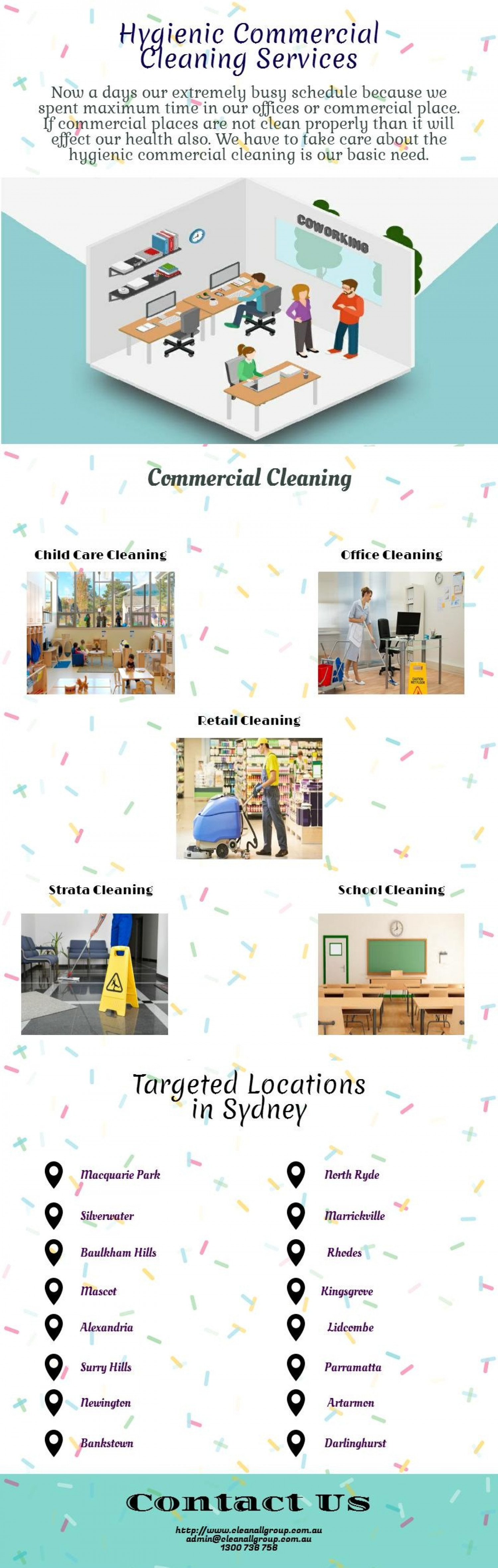 Commercial Cleaning Services Sydney Infographic