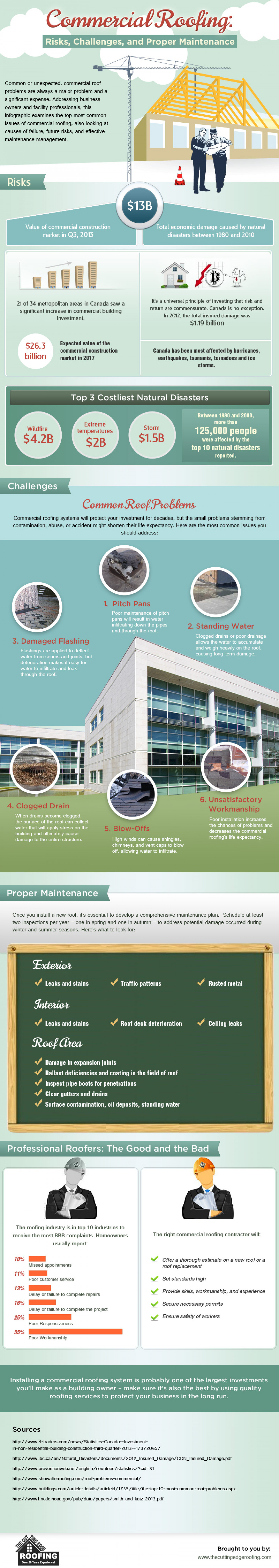 Commercial Roofing: Risks, Challenges and Proper Maintenance Infographic