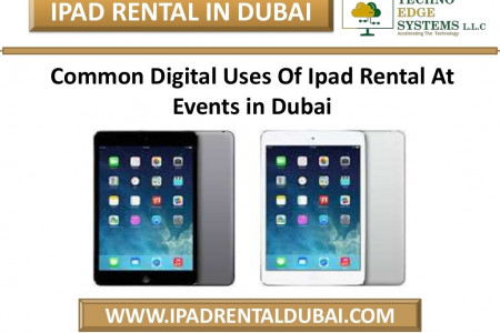 Common Digital Uses Of Ipad Rental At Events in Dubai Infographic