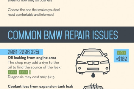 COMMON ISSUES AND PRICING FOR BMW REPAIRS  Infographic