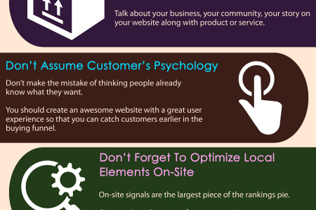 Common Mistakes To Avoid On Local Websites Infographic