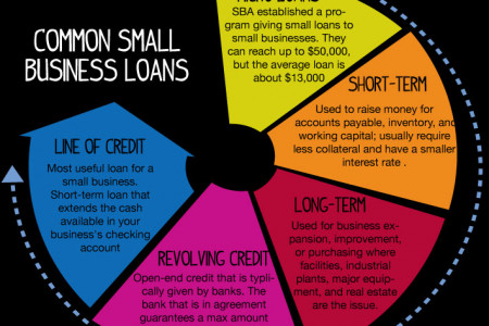 Common Small Business Loans Infographic