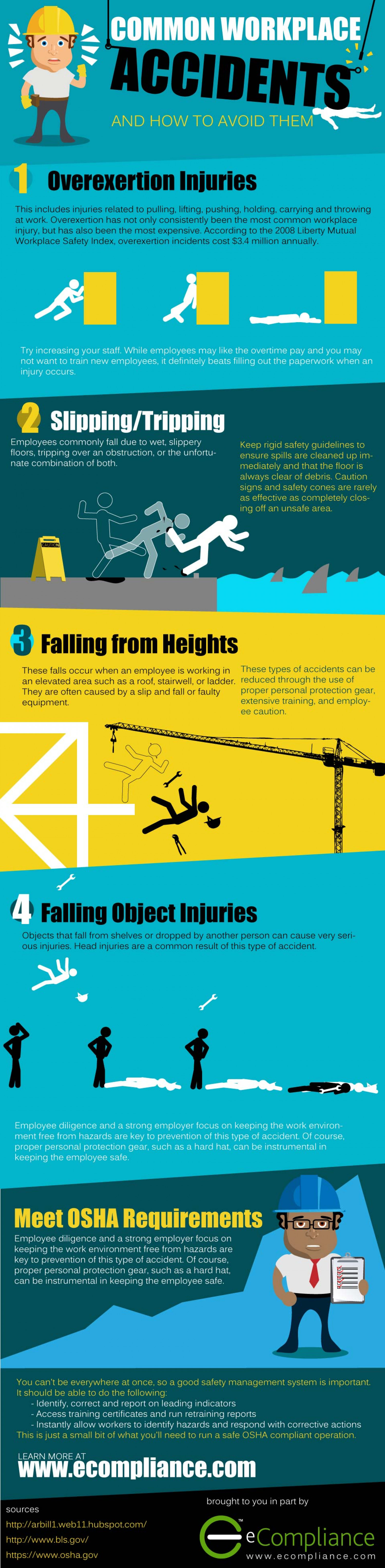 Common Workplace Accidents Infographic