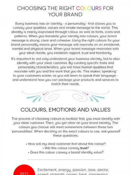 Communicating with Colour Infographic