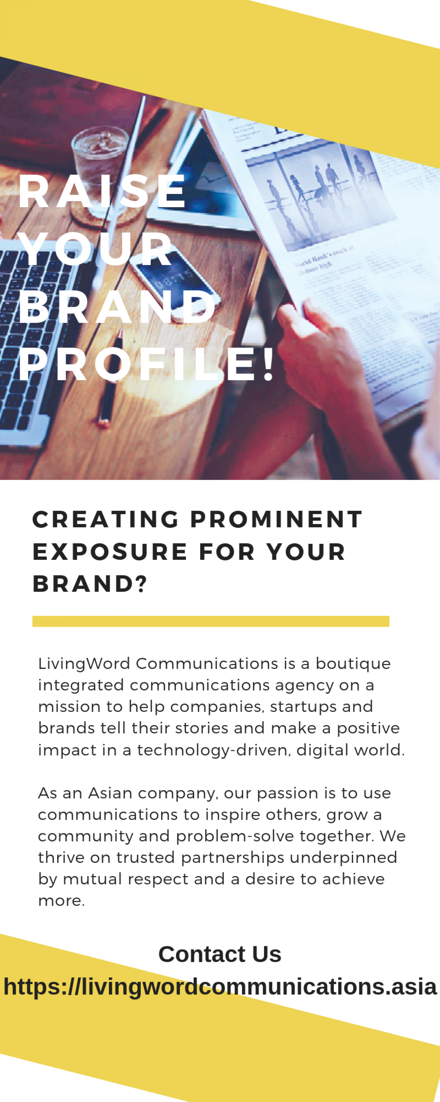 Communications agency Singapore Infographic