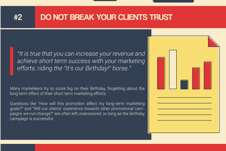 Company Birthdays and Marketing Efforts Infographic