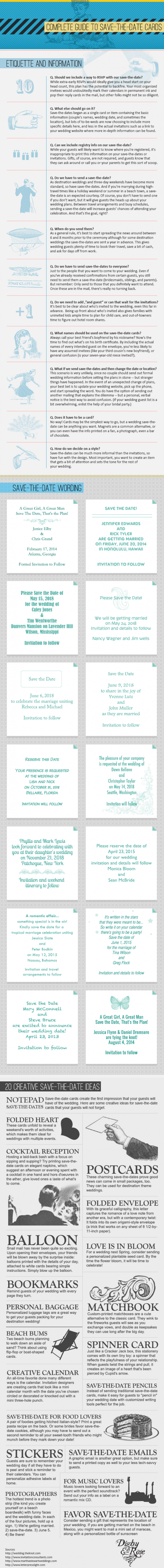 Complete Guide To Save-The-Date Cards