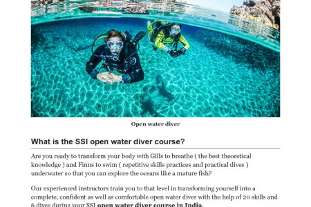 Complete overview of open water diver course Infographic