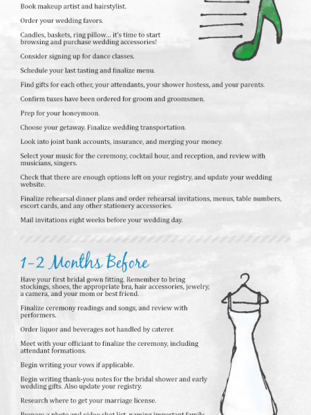 Complete Wedding Planning Guide and Checklist Infographic