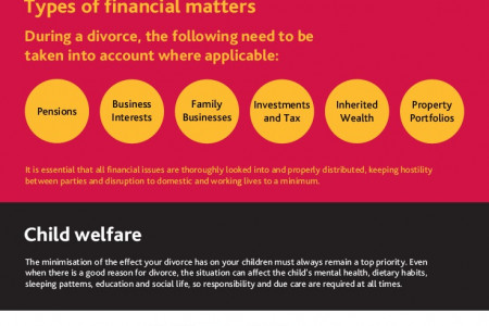 Complex Divorce - Navigating Financial Matters Infographic