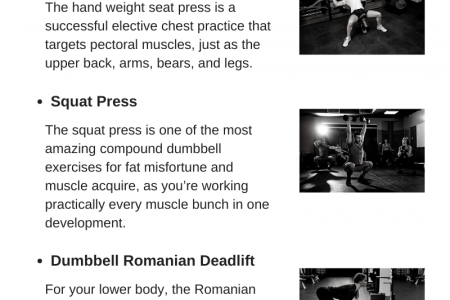 Compound Exercises at home with Dumbbells Infographic