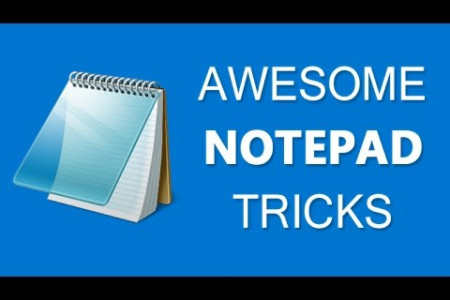 Computer Tricks Using Notepad in 10 Minutes Infographic