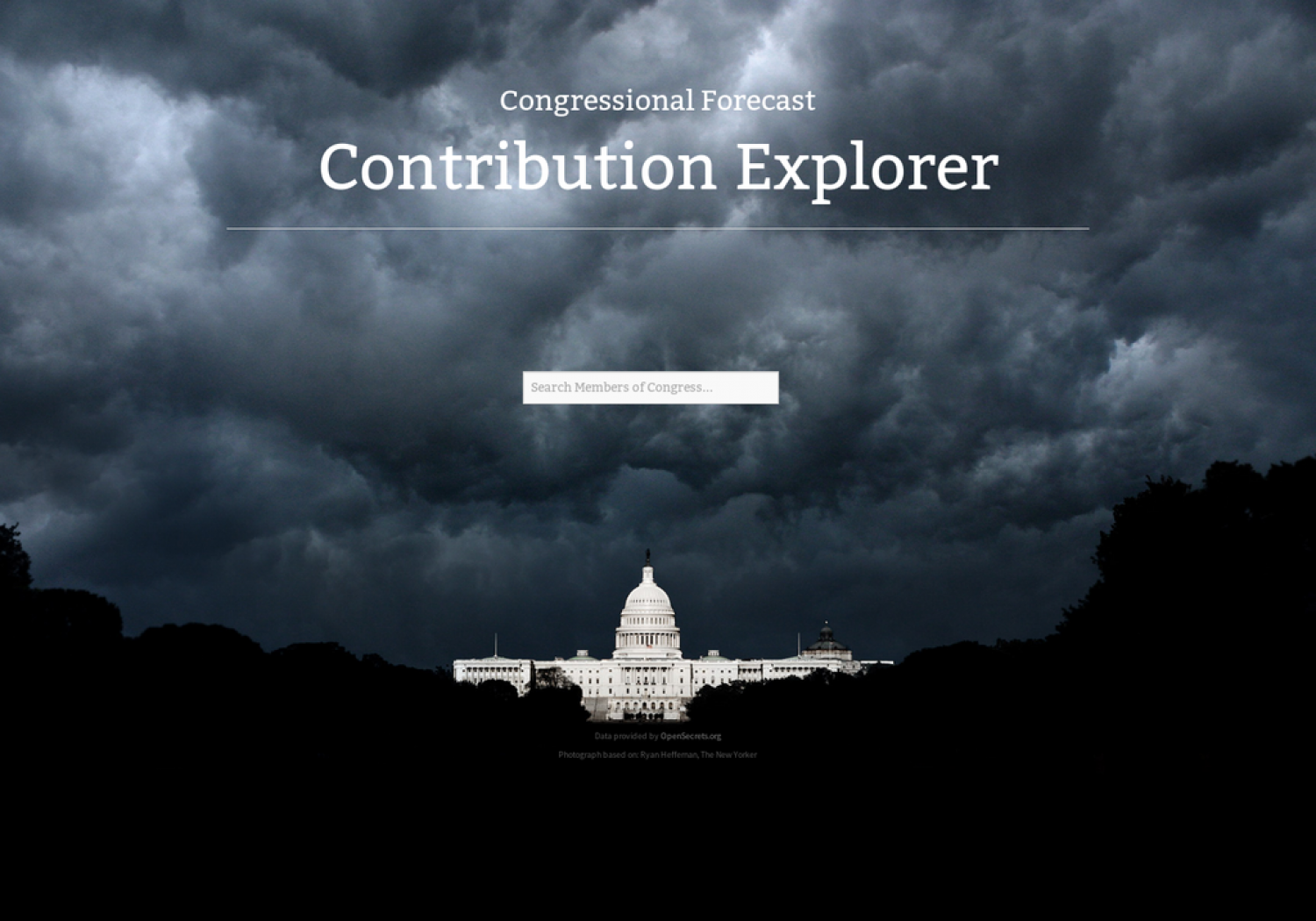 Congressional Forecast Contribution Explorer Infographic