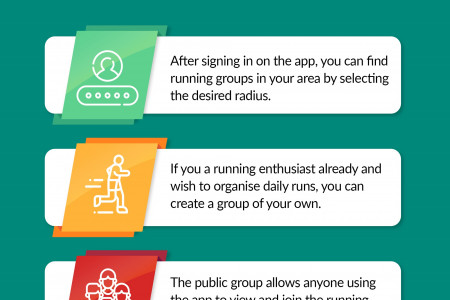 Connect with people & find running partners nearby Infographic
